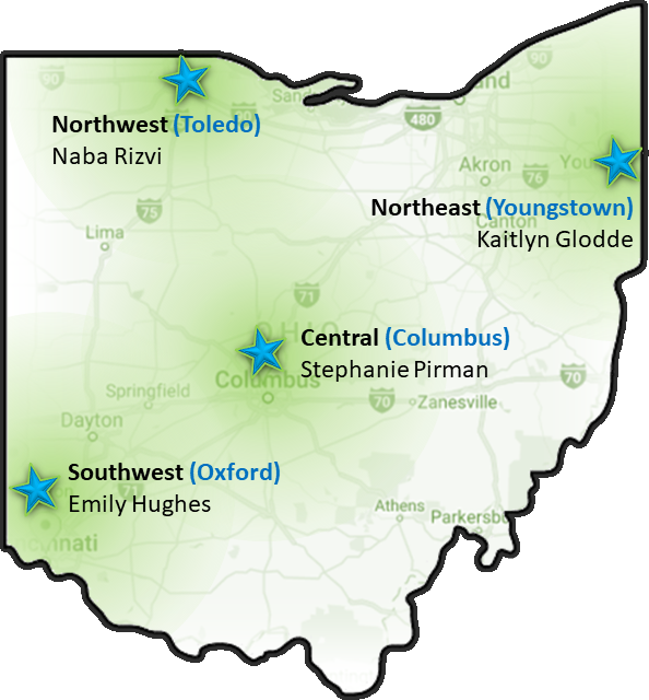 Regional Representatives in Ohio Community of Women in Computing