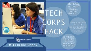 TECHCORPShack @ Capital University, Sinclair Community College, and Zane State College