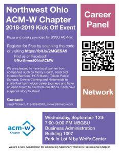 Northwest Ohio ACM-W Chapter Kick-Off @ BGSU Business Adminstration Building 1007